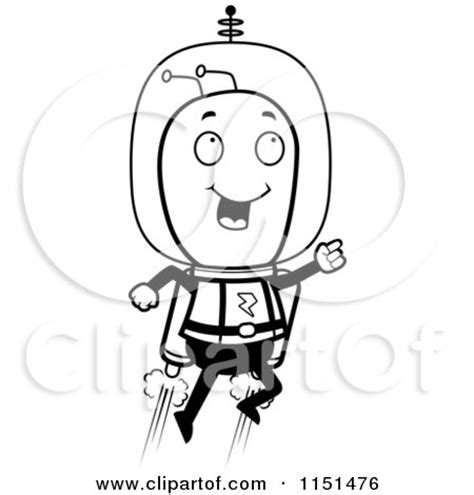 jetpack coloring page royalty free rf clipart illustration of a blond space