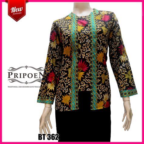 Baju Batik Wanita Simpel Model Kutu Baru Batik Murah Meriah atasan batik wanita model kutu baru bt 362 pripoen batik pekalongan baju batik pekalongan