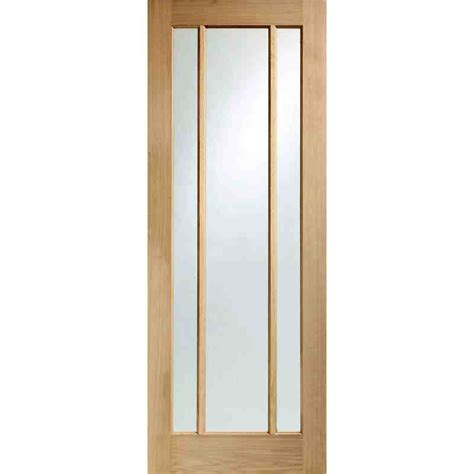 Interior Oak Doors With Glass Pre Fin Worcester Clear Chislehurst Doors