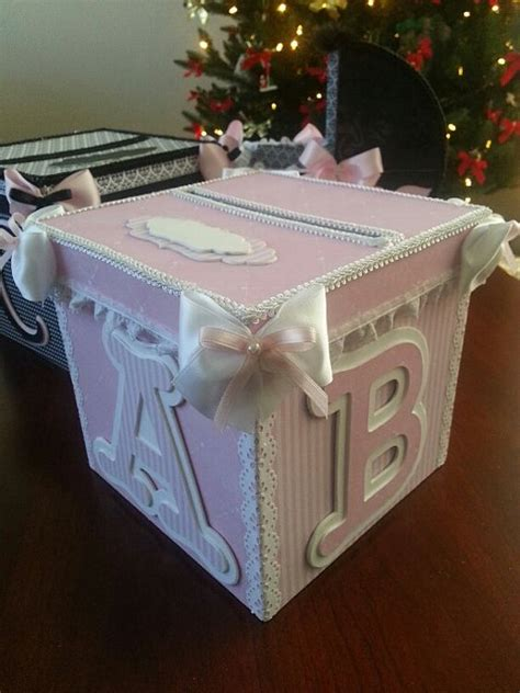 Diy Gift Card Box - pink and white money card box gift card box baby shower card box baby keepsake