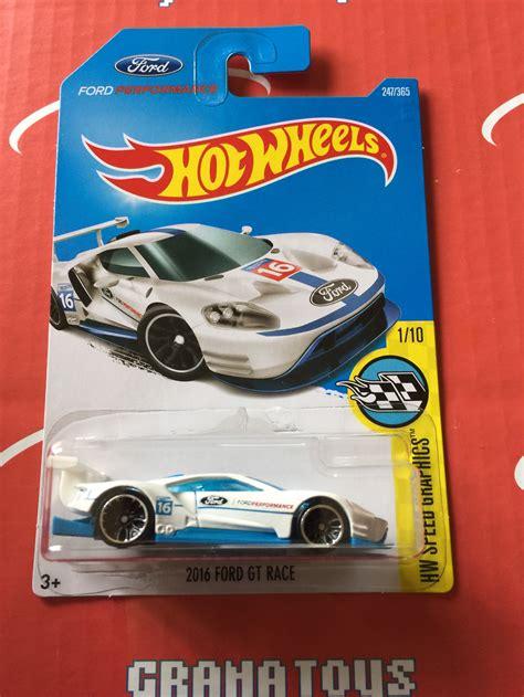 Hotwheels 2016 Ford Gt Race 2016 ford gt race 247 white 2017 wheels l ebay