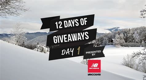Days Of Giveaways - 12 days of giveaways win new balance shoes for you and your friends daily hive