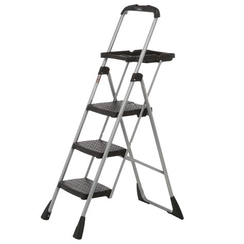 ladders home depot aluminum step ladder with 300 lb load
