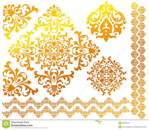 stock images royalty free images vectors set of floral vector patterns royalty free stock images image 20201649