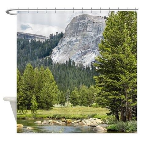 mountain scene shower curtain mountain river scene shower curtain by 64colorliving