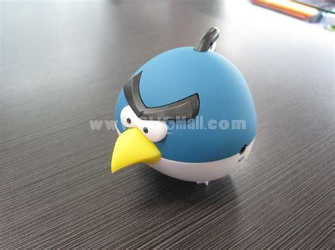 Plush Card Reader Speaker Yellow Angry Birds Mini Speaker angry bird shaped usb speaker with build in mp3 player supports microsd card sygmall