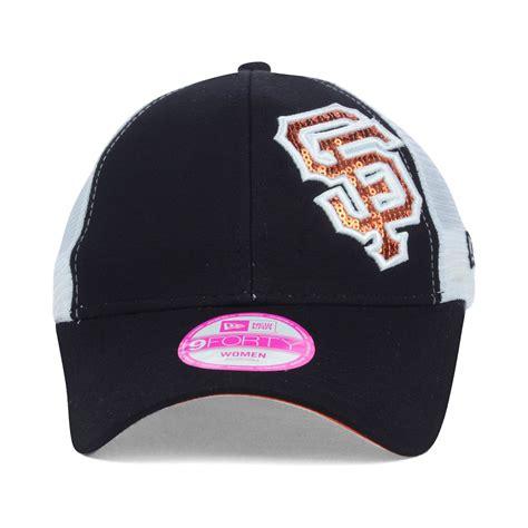ktz womens san francisco giants sequin shimmer 9forty cap