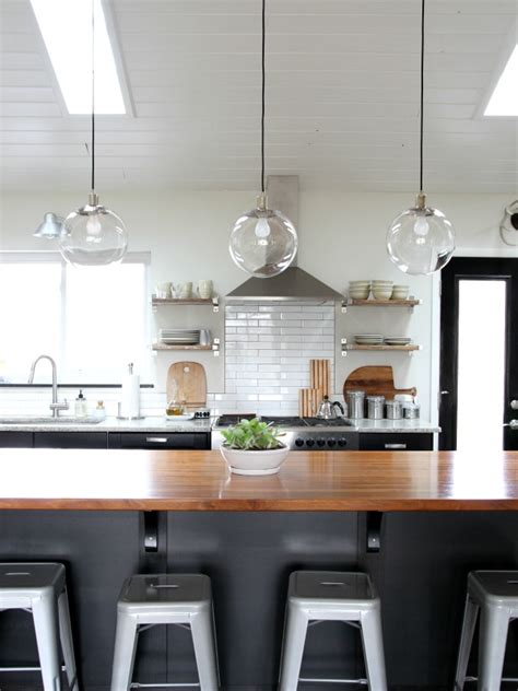 House Tweaking Clear Glass Pendant Lights For Kitchen Island