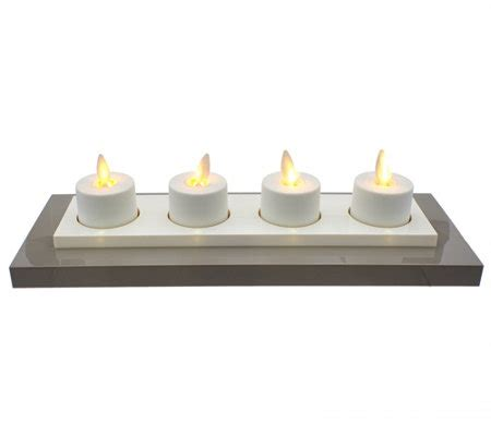 luminara rechargeable tea lights set of 4 with base luminara set of 4 rechargeable tealights with base page
