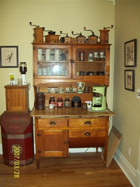 old white hoosier with yellow ware bowls bitchin in 27 best hoosier cabinets and parts images on pinterest