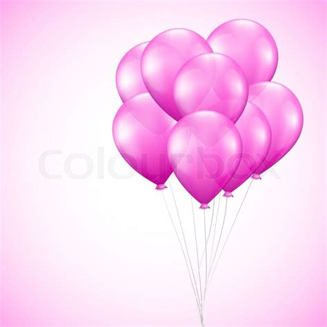 pink balloon wallpaper background with pink balloons stock photo colourbox