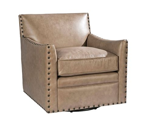 Swivel Accent Chair Transitional Leather Swivel Accent Chair Club Furniture