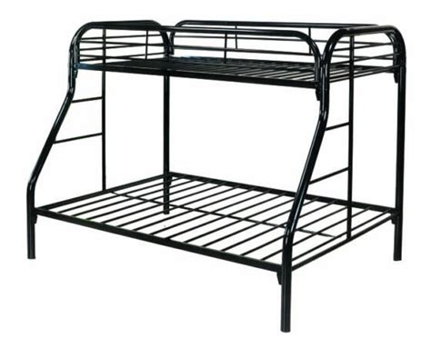 metal frame bunk beds piedmont metal frame twin over full bunk bed in michigan