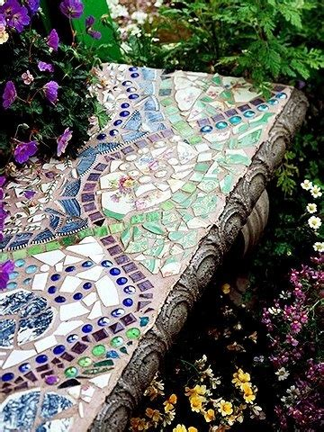 mosaic garden bench mosaic garden bench gardens and outdoor spaces pinterest