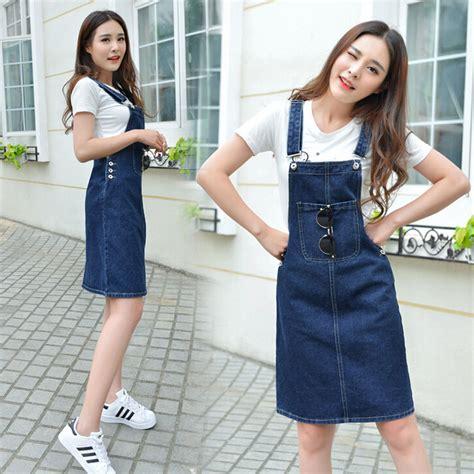 Dress Korean Midi Dress Fashion Korea 1 2016 korean fashion s overalls skirts korean style slim midi skirts denim