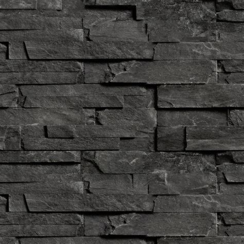 download black brick wall waterfaucets stone cladding internal walls texture seamless 08078