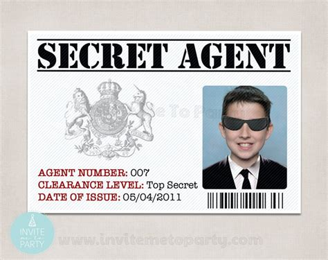 secret id card template secret id detective id id