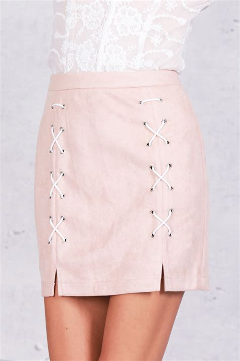 Lace Up Pencil Skirt lace up seude pencil skirt on luulla