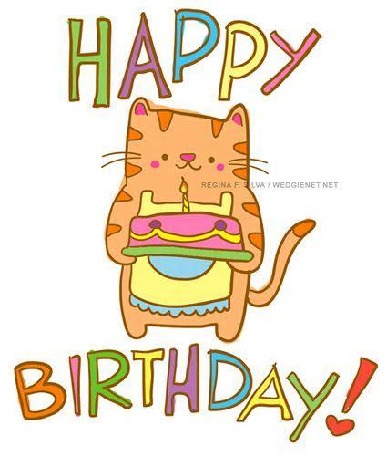 imagenes de happy birthday con gatos happy birthday cat via flickr frases pinterest