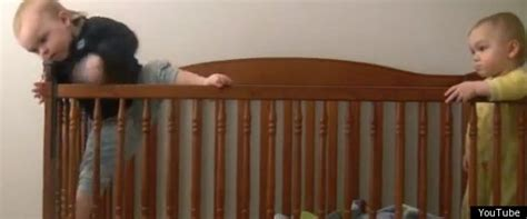 Twin Baby Escapes Crib During Nap Time Tries To Destroy Baby Escapes From Crib