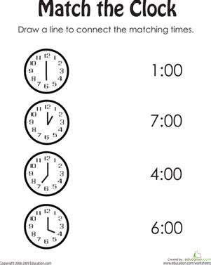 clock practice children s telling time kindergarten