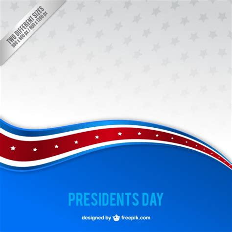 election background blue wave president day background vector premium