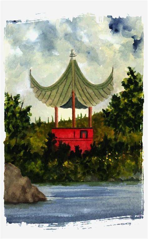 pagoda painting