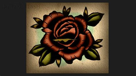 how to draw a traditional rose tattoo speed drawing lesson how to draw a neo