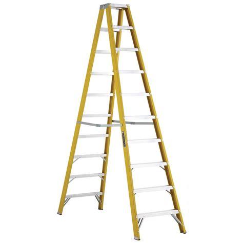 Home Depot 10 Foot Ladder by Louisville Ladder 10 Ft Fiberglass Step Ladder With