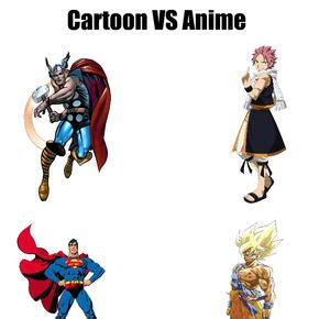 anime vs cartoon meme center another profile