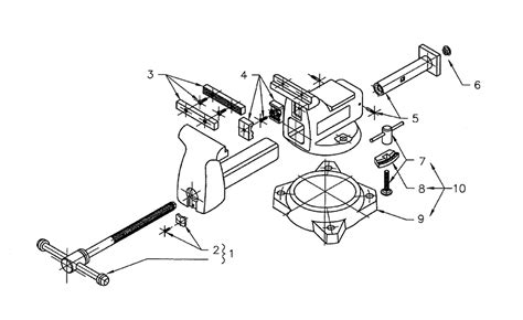 diagram of bench vice buy wilton 746a replacement tool parts wilton 746a vise