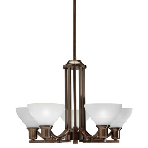 Allen Roth 34414 5 Light Leanne Light Oil Rubbed Bronze Lowes Allen Roth Chandelier