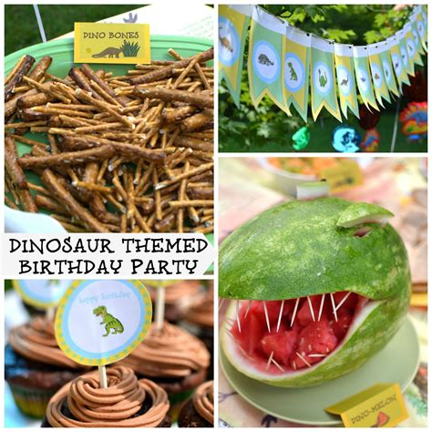Themed Birthday Decorations by With Dinosaurs Dinosaur Themed Birthday