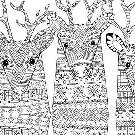 reindeer in here coloring book books christmascolor