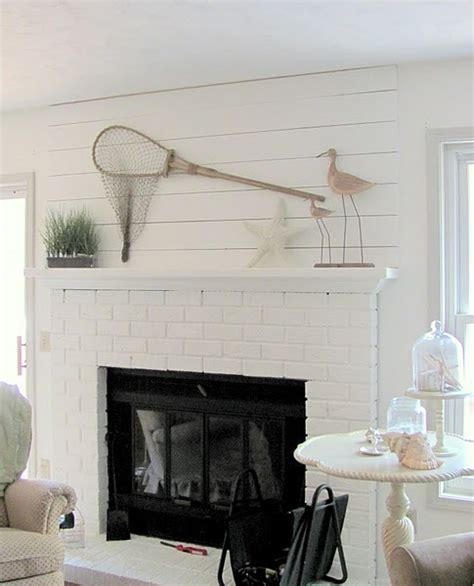 decorate a mantel coastal cottage style
