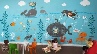 wall mural for kids imaginative under sea wall murals design ideas in kids