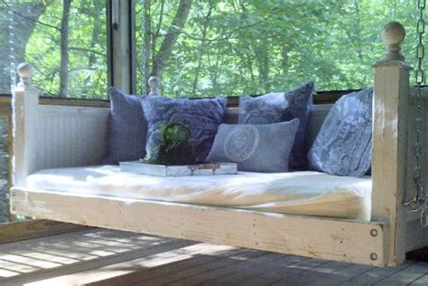 bed porch swing shabby chic day bed porch swing by customrustics1 on etsy