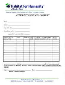 Community Service Log Sheet Template by Community Service Hours Log Sheet Template Forms