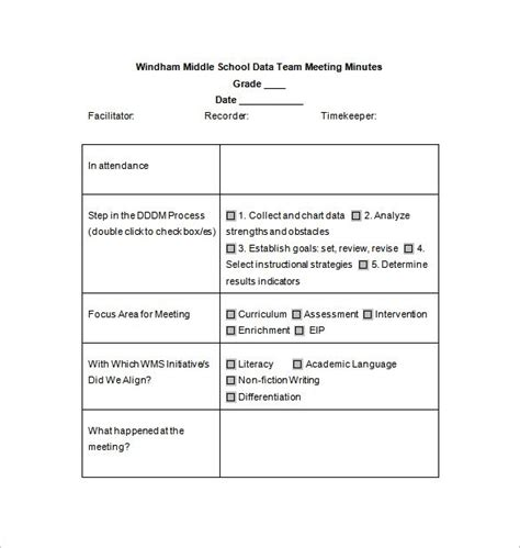 template of minutes of meetings exles school meeting minutes templates 14 free sle
