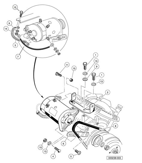 yamaha golf cart starter generator parts diagram yamaha