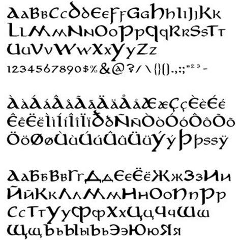 tattoo fonts elvish fonts language and fonts on
