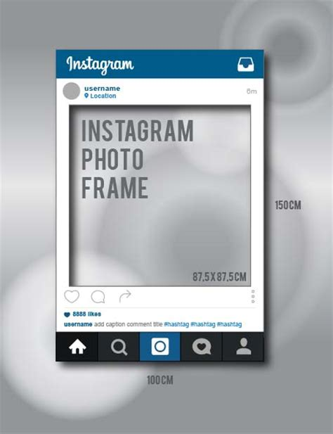 Instagram Prop Mock Up By Veezha By Veezha On Deviantart Instagram Frame Template Pdf