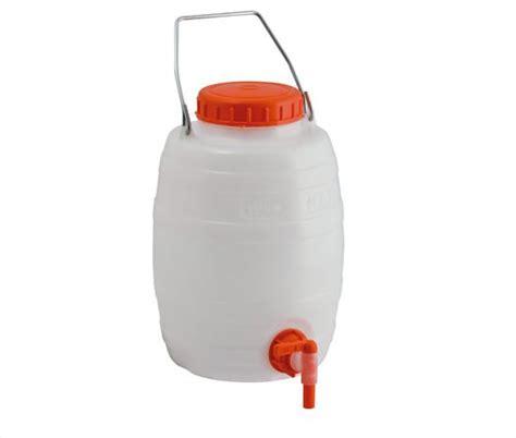 contenitori con rubinetto fusti bidoni botticelle in plastica con rubinetto