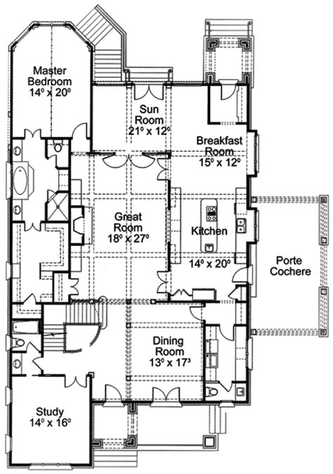 english manor floor plans english manor 56137ad 1st floor master suite bonus