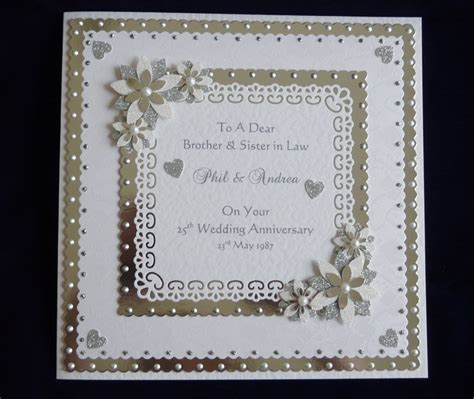 Handmade 25th Anniversary Cards - 17 best images about anniversary cards on