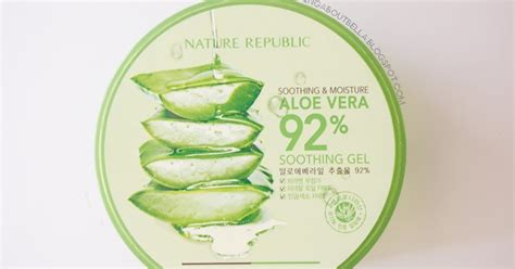 Nature Republic Soothing Gel Review Indonesia review nature republic soothing moisture aloe vera 92