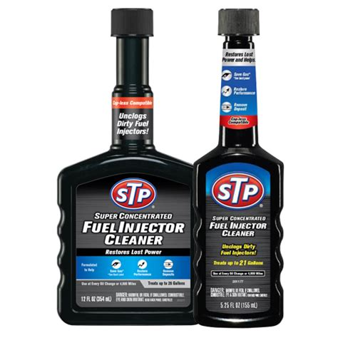 fuel injection cleaning concentrated fuel injector cleaner stp