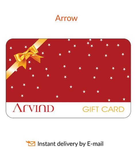 Gift Card Brands - arvind brands arrow e gift cards buy online on snapdeal