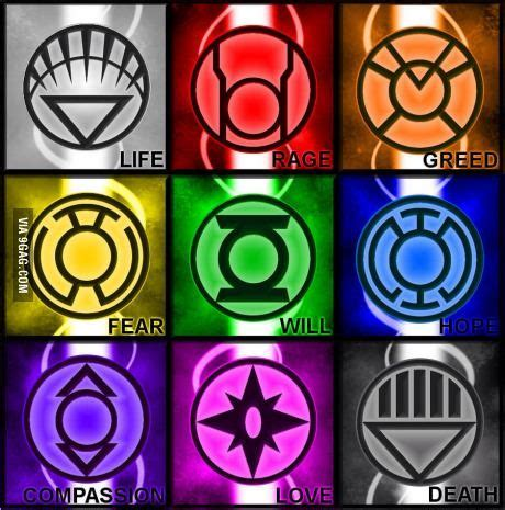 lantern corps colors there are different lanterns other than green aquarelas