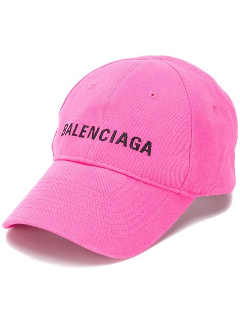 balenciaga cap in pink lyst